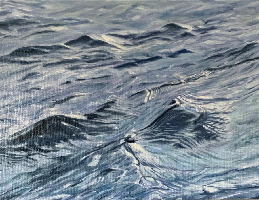 Original art for sale at UGallery.com | Winter's Water by Debbie Daniels | $775 | oil painting | 11' h x 14' w | ..\art\oil-painting-Winter-s-Water