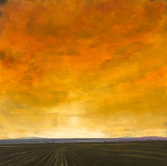 Original art for sale at UGallery.com | Luminous Field IX by Mandy Main | $1,000 | oil painting | 24' h x 24' w | ..\art\oil-painting-Luminous-Field-IX