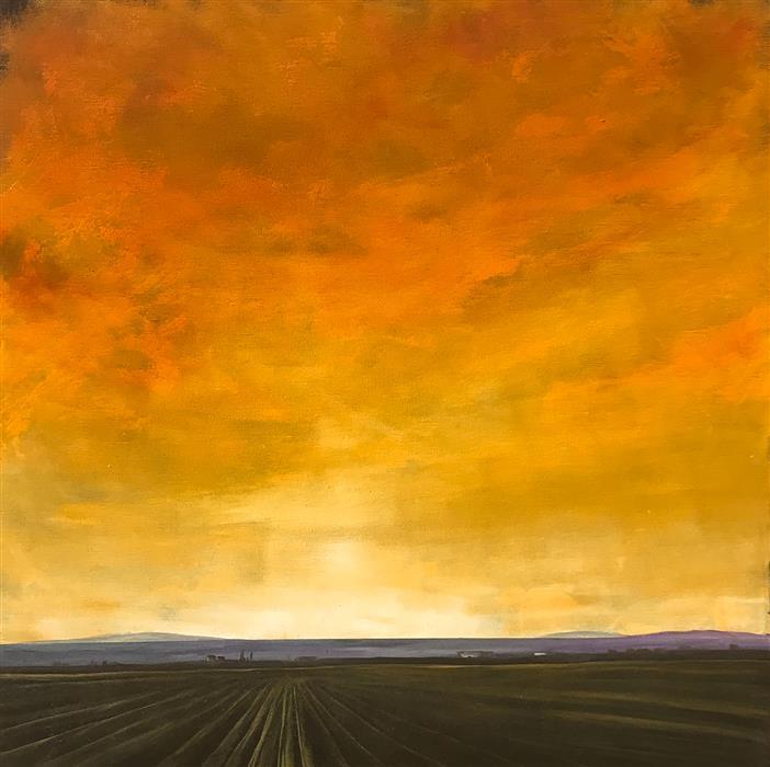 Original art for sale at UGallery.com | Luminous Field IX by Mandy Main | $1,000 | oil painting | 24' h x 24' w | ..\art\oil-painting-Luminous-Field-IX