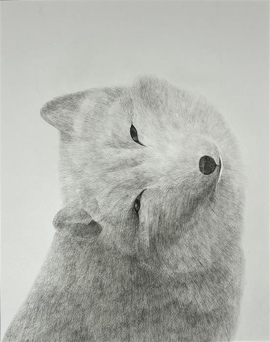 Original art for sale at UGallery.com | Friends for a Sobering Time 07 Snow Fox by Ziui Vance | $1,350 | ink artwork | 24' h x 18' w | ..\art\ink-artwork-Friends-for-a-Sobering-Time-07-Snow-Fox