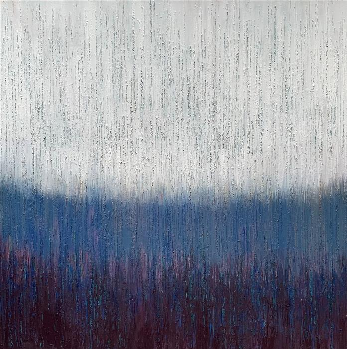 Original art for sale at UGallery.com | Remain Calm by Janet Hamilton | $3,575 | oil painting | 40' h x 40' w | ..\art\oil-painting-Remain-Calm