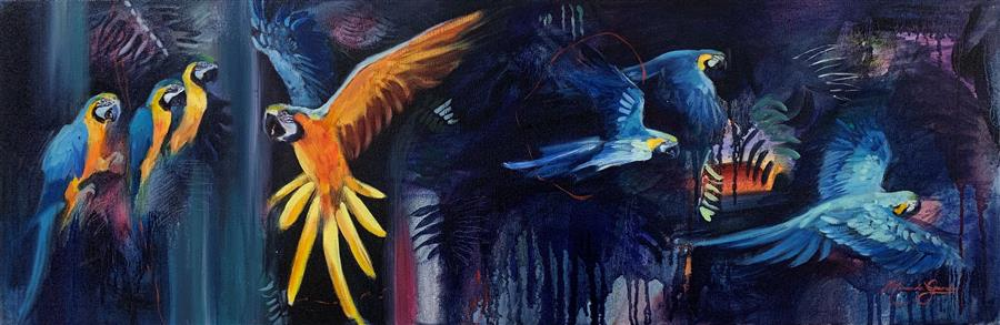 Original art for sale at UGallery.com | A New Kingdom by Miranda Gamel | $1,175 | oil painting | 12' h x 30' w | ..\art\oil-painting-A-New-Kingdom