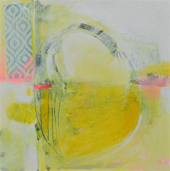 Original art for sale at UGallery.com   The Yellow Sun by Patrick O'Boyle   $325   mixed media artwork   12' h x 12' w   ..\art\mixed-media-artwork-The-Yellow-Sun