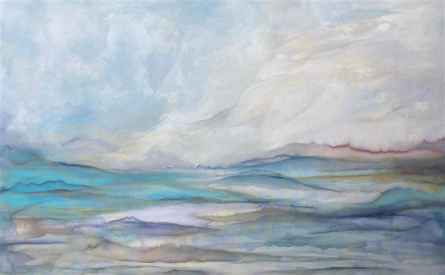 Original art for sale at UGallery.com | Slowing Down Time by Alicia Dunn | $6,800 | acrylic painting | 48' h x 72' w | ..\art\acrylic-painting-Slowing-Down-Time