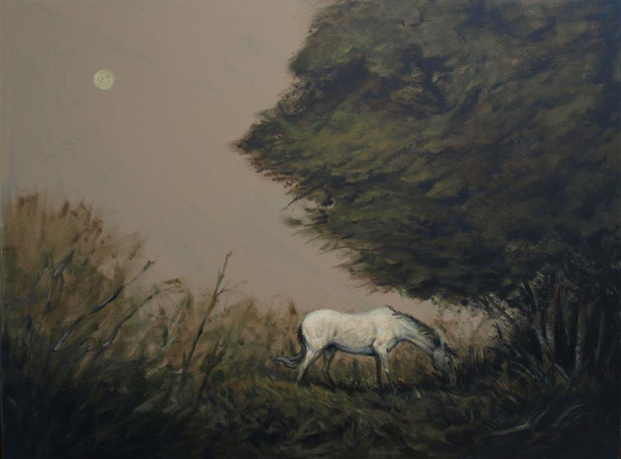 Original art for sale at UGallery.com | The Horse by Drew McSherry | $2,925 | acrylic painting | 30' h x 40' w | ..\art\acrylic-painting-The-Horse