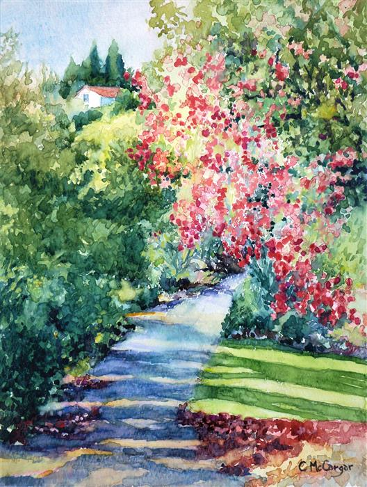 Original art for sale at UGallery.com | Joy in the Morning by Catherine McCargar | $475 | watercolor painting | 12' h x 9.5' w | ..\art\watercolor-painting-Joy-in-the-Morning