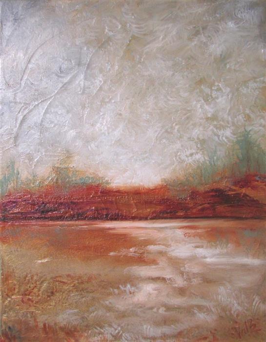 Original art for sale at UGallery.com | Heavy Skies by Valerie Berkely | $325 | oil painting | 14' h x 11' w | ..\art\oil-painting-Heavy-Skies