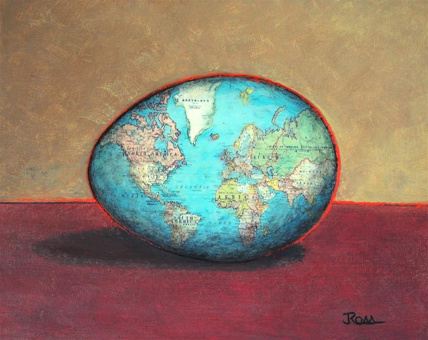 Original art for sale at UGallery.com | The Earth Without Art Is Just Eh by Jennifer Ross | $300 | mixed media artwork | 8' h x 10' w | ..\art\mixed-media-artwork-The-Earth-Without-Art-Is-Just-Eh