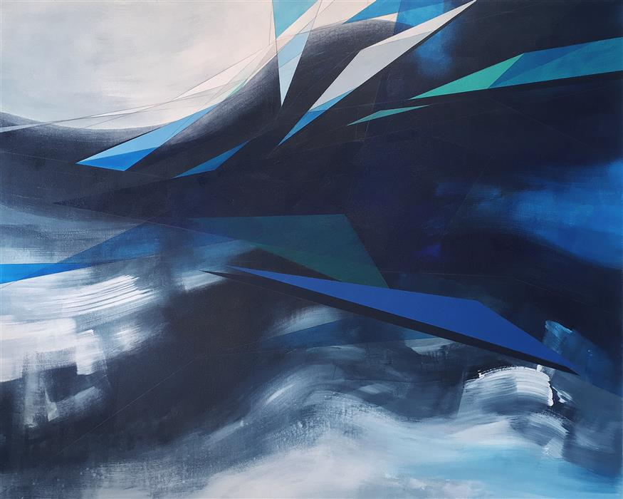 Original art for sale at UGallery.com | Abstract Landscape #63 by Paul Kirley | $4,400 | acrylic painting | 48' h x 60' w | ..\art\acrylic-painting-Abstract-Landscape-63