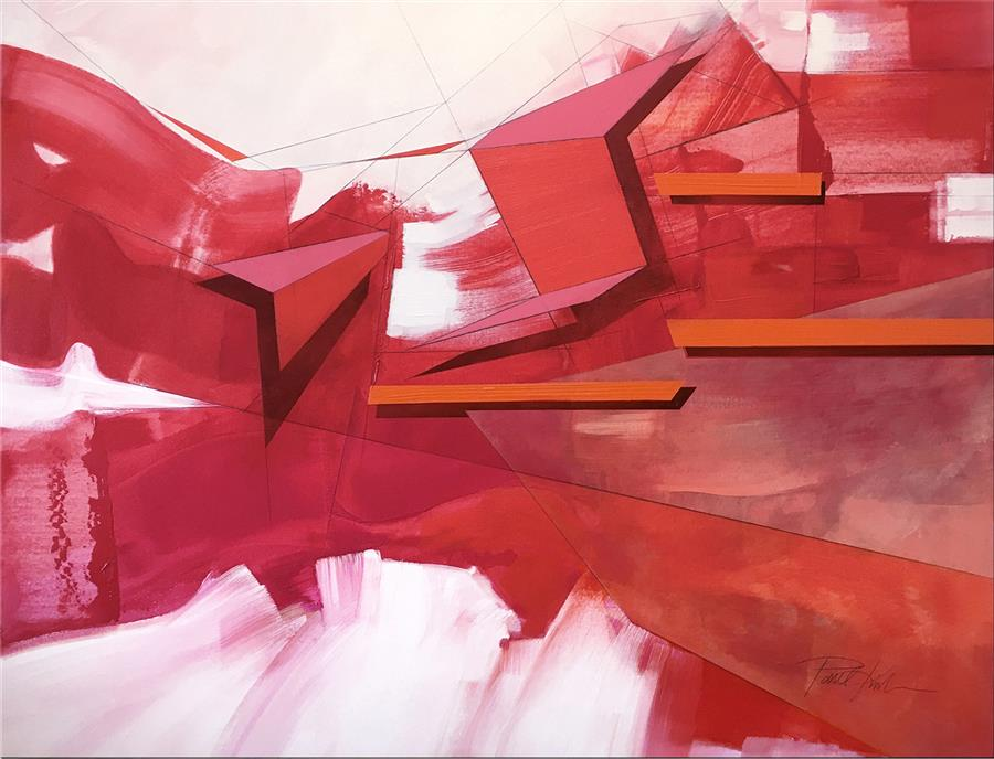 Original art for sale at UGallery.com | Abstract Landscape #67 by Paul Kirley | $3,000 | acrylic painting | 36' h x 48' w | ..\art\acrylic-painting-Abstract-Landscape-67-70234