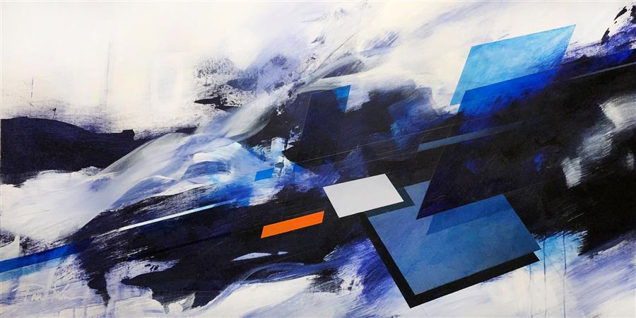 Original art for sale at UGallery.com | Abstract Landscape #110 by Paul Kirley | $4,700 | acrylic painting | 36' h x 72' w | ..\art\acrylic-painting-Abstract-Landscape-110