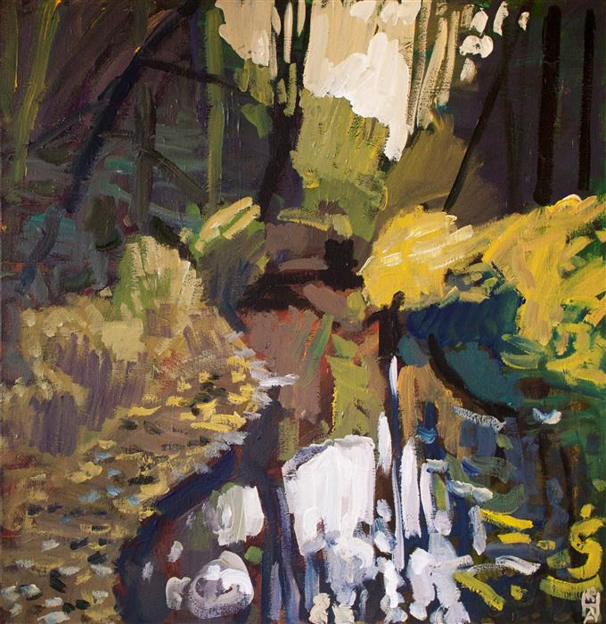 Original art for sale at UGallery.com | Evoke by Robert Hofherr | $1,550 | acrylic painting | 24' h x 24' w | ..\art\acrylic-painting-Evoke