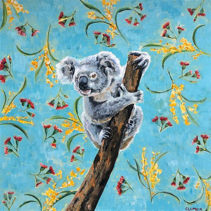 Original art for sale at UGallery.com | Koala by Alana Clumeck | $800 | acrylic painting | 24' h x 24' w | ..\art\acrylic-painting-Koala