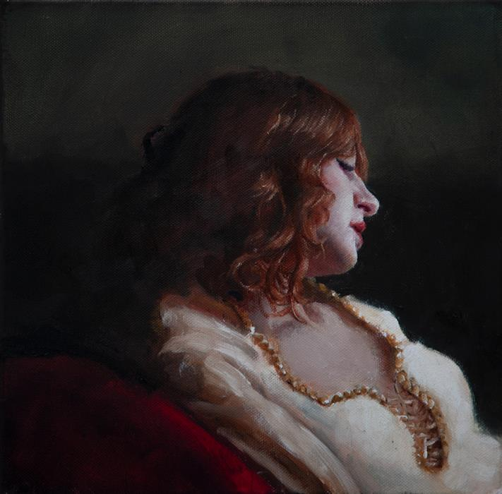Original art for sale at UGallery.com | Marian Study by John Kelly | $2,150 | oil painting | 12' h x 12' w | ..\art\oil-painting-Marian-Study