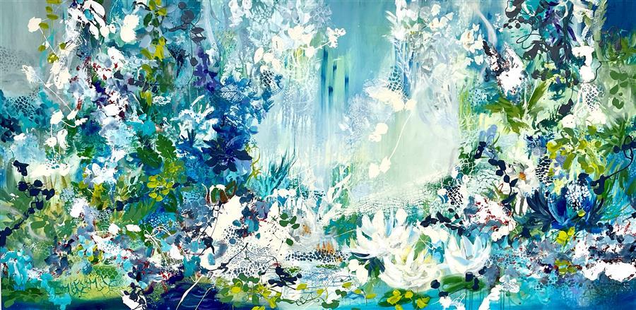 Original art for sale at UGallery.com | Secret Garden by DL Watson | $6,950 | acrylic painting | 36' h x 72' w | ..\art\acrylic-painting-Secret-Garden-70368