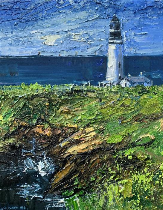 Original art for sale at UGallery.com   Lighthouse 30 by Eric Alfaro   $700   oil painting   20' h x 16' w   ..\art\oil-painting-Lighthouse-30