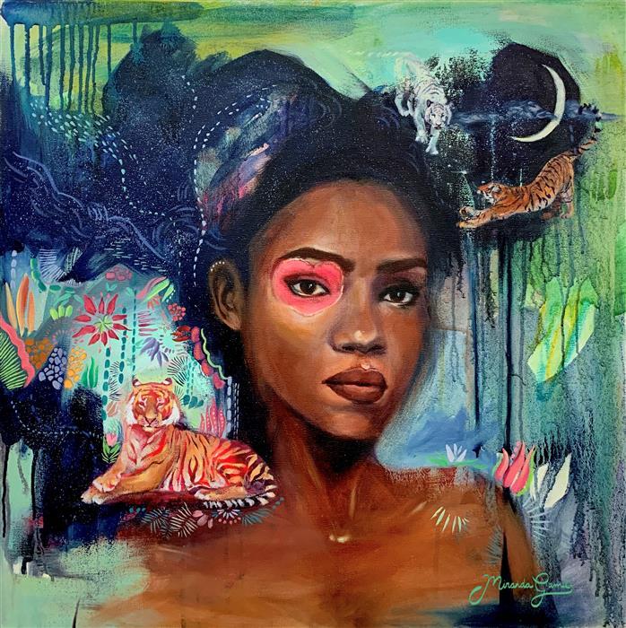 Original art for sale at UGallery.com | Love Rewritten by Miranda Gamel | $1,850 | oil painting | 24' h x 24' w | ..\art\oil-painting-Love-Rewritten