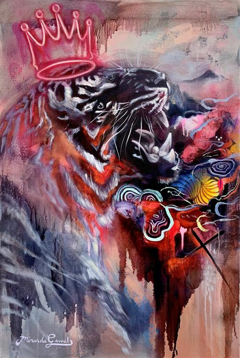 Original art for sale at UGallery.com | His Majesty by Miranda Gamel | $2,700 | mixed media artwork | 36' h x 24' w | ..\art\mixed-media-artwork-His-Majesty