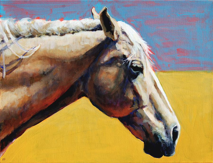 Original art for sale at UGallery.com | Summer Horse by Heather Foster | $1,275 | acrylic painting | 12' h x 16' w | ..\art\acrylic-painting-Summer-Horse