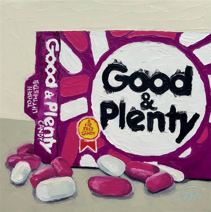 Original art for sale at UGallery.com | Plenty Good by Karen Barton | $450 | oil painting | 8' h x 8' w | ..\art\oil-painting-Plenty-Good
