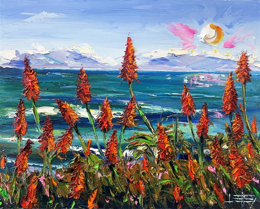 Original art for sale at UGallery.com | A Day in the Bay by Lisa Elley | $800 | oil painting | 16' h x 20' w | ..\art\oil-painting-A-Day-in-the-Bay