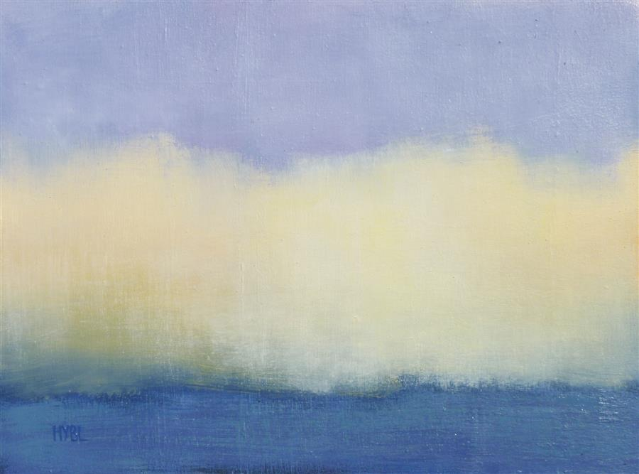 Original art for sale at UGallery.com | Gold Fog by Heidi Hybl | $1,050 | oil painting | 18' h x 24' w | ..\art\oil-painting-Gold-Fog