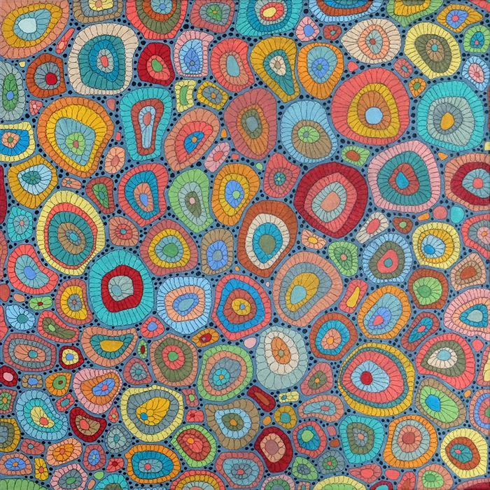 Original art for sale at UGallery.com | Reef by Terri Bell | $650 | mixed media artwork | 18' h x 18' w | ..\art\mixed-media-artwork-Reef