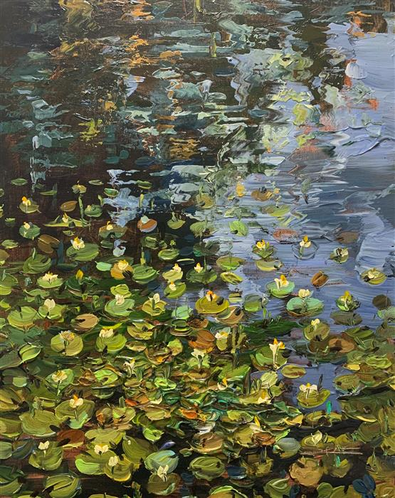 Original art for sale at UGallery.com | Water Garden 31 by Eric Alfaro | $700 | acrylic painting | 20' h x 16' w | ..\art\acrylic-painting-Water-Garden-31