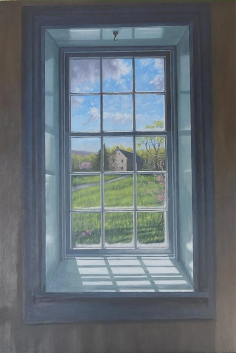 Original art for sale at UGallery.com | View of the Qually House by Jay Jensen | $2,750 | oil painting | 36' h x 24' w | ..\art\oil-painting-View-of-the-Qually-House