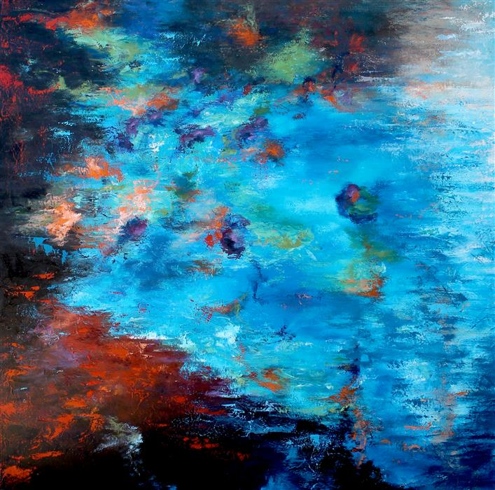 Original art for sale at UGallery.com | Reflection IX by Naoko Paluszak | $2,100 | oil painting | 36' h x 36' w | ..\art\oil-painting-Reflection-IX