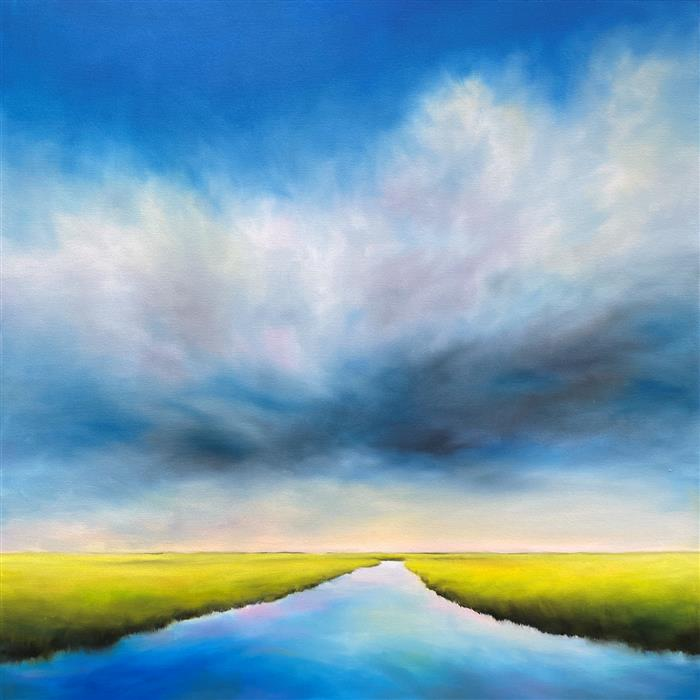 Original art for sale at UGallery.com | Marsh Passage by Nancy Hughes Miller | $3,175 | oil painting | 40' h x 40' w | ..\art\oil-painting-Marsh-Passage