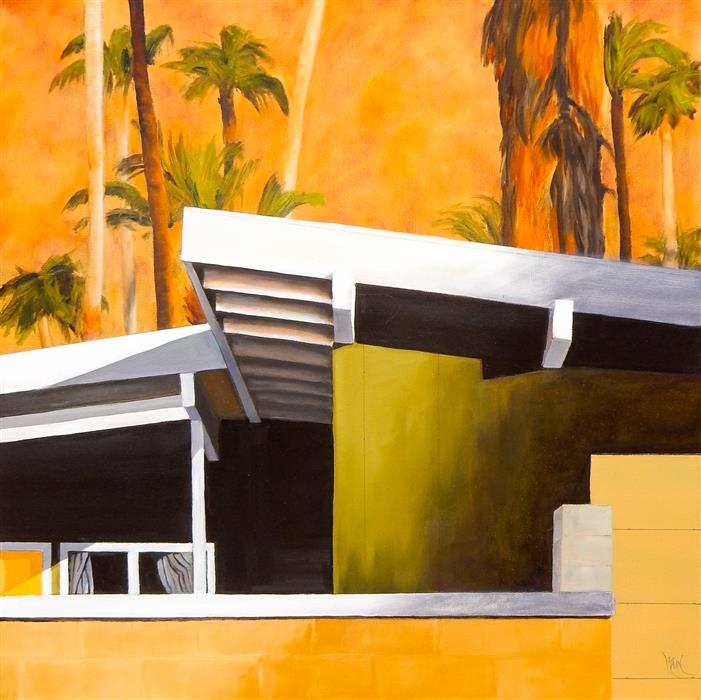 Original art for sale at UGallery.com | Mid Century Modern XXV by Mandy Main | $1,150 | oil painting | 24' h x 24' w | ..\art\oil-painting-Mid-Century-Modern-XXV