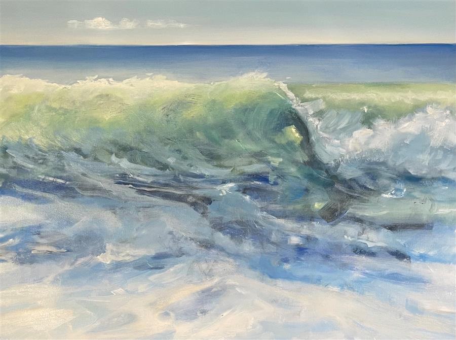 Original art for sale at UGallery.com | Waking Sea by Patricia Fabian | $2,200 | oil painting | 30' h x 40' w | ..\art\oil-painting-Waking-Sea