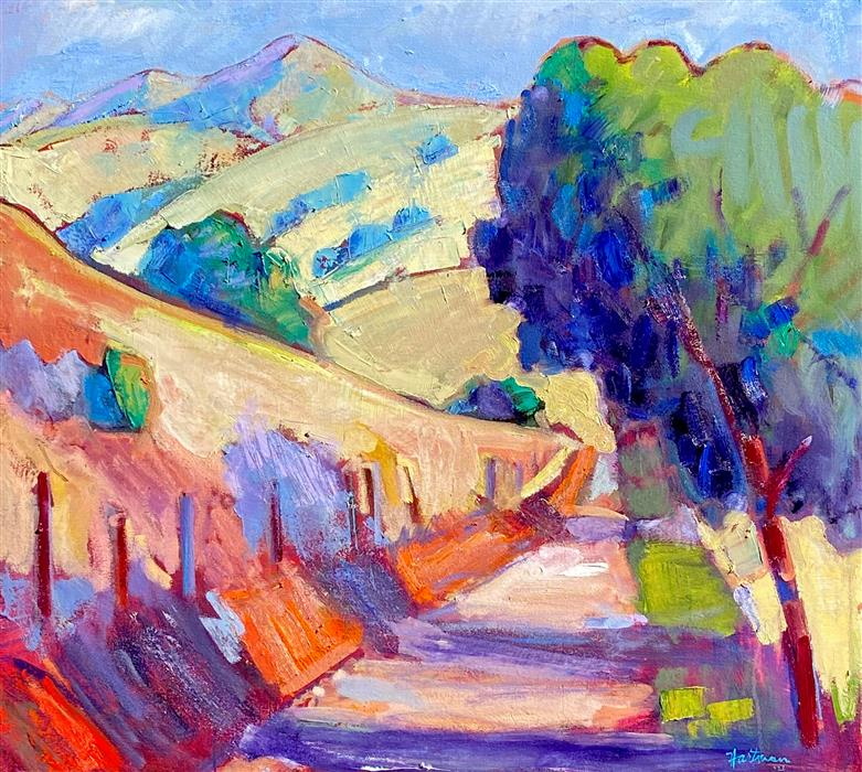 Original art for sale at UGallery.com | North Gate Road, Mt. Diablo by James Hartman | $2,050 | oil painting | 30' h x 33' w | ..\art\oil-painting-North-Gate-Road-Mt-Diablo