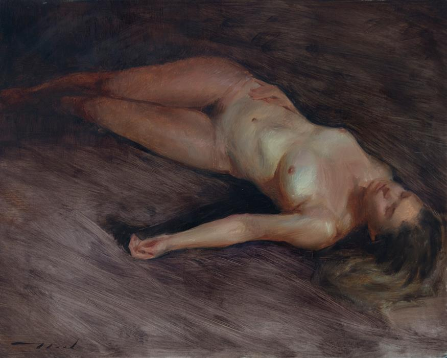Original art for sale at UGallery.com   Repose 1 by McGarren Flack   $1,800   oil painting   16' h x 20' w   ..\art\oil-painting-Repose-1