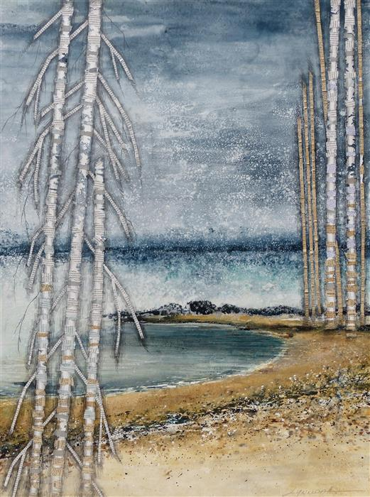 Original art for sale at UGallery.com | A Softer Place by Linda Klein | $2,175 | mixed media artwork | 40' h x 30' w | ..\art\mixed-media-artwork-A-Softer-Place