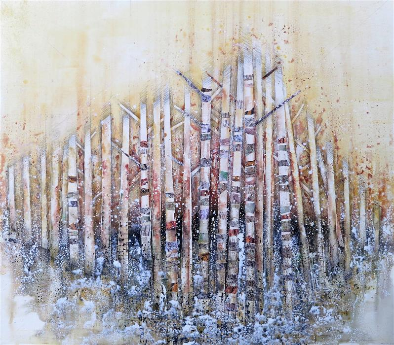 Original art for sale at UGallery.com | Well Being ll by Linda Klein | $3,000 | mixed media artwork | 40' h x 45' w | ..\art\mixed-media-artwork-Well-Being-ll
