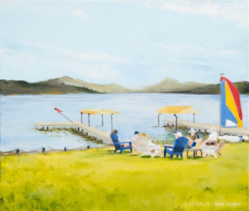 Original art for sale at UGallery.com | Oh, Those Days! by Susan Walker | $375 | oil painting | 10' h x 12' w | ..\art\oil-painting-Oh-Those-Days