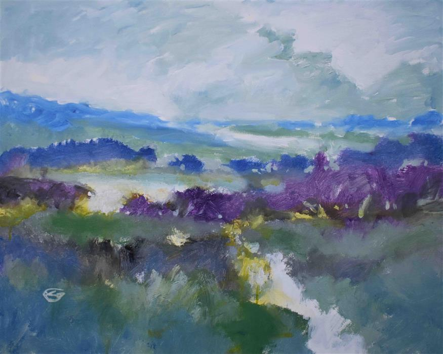 Original art for sale at UGallery.com | Over the Land by Kip Decker | $1,675 | acrylic painting | 24' h x 30' w | ..\art\acrylic-painting-Over-the-Land
