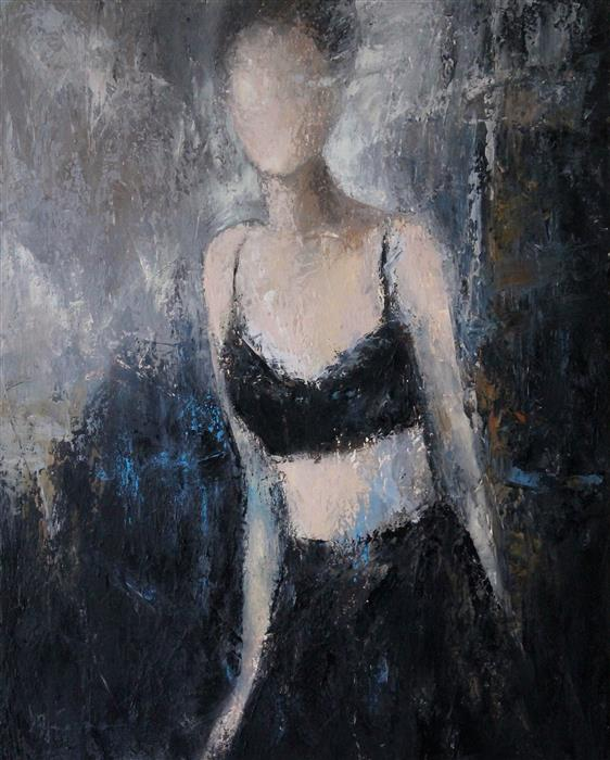 Original art for sale at UGallery.com | Stepping Out to the Light III by Naoko Paluszak | $1,150 | oil painting | 20' h x 16' w | ..\art\oil-painting-Stepping-Out-to-the-Light-III