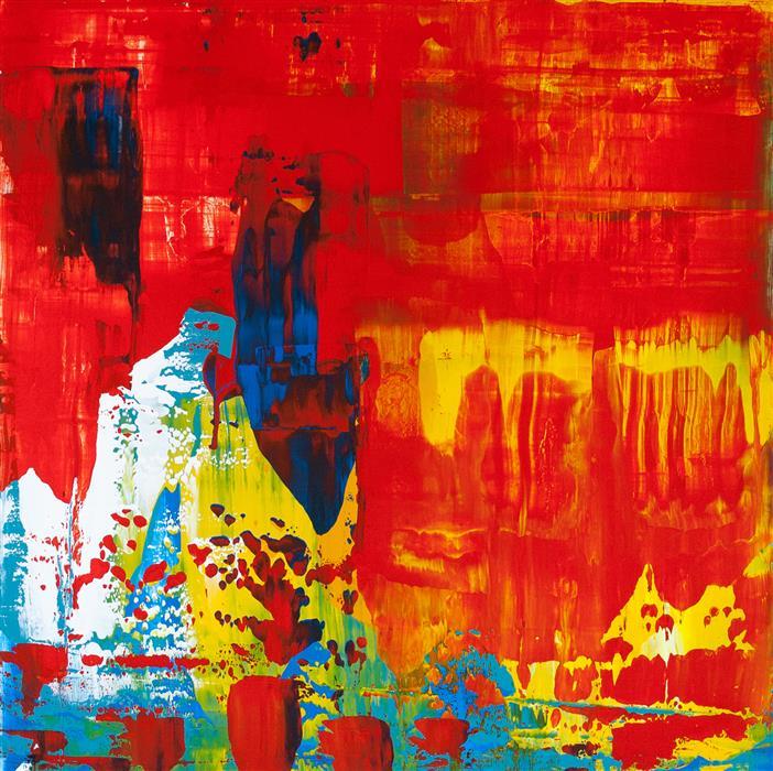 Original art for sale at UGallery.com | Painting a Secret by Juan Gabriel Peréz Botero aka JUGA | $900 | acrylic painting | 23.62' h x 23.62' w | ..\art\acrylic-painting-Painting-a-Secret
