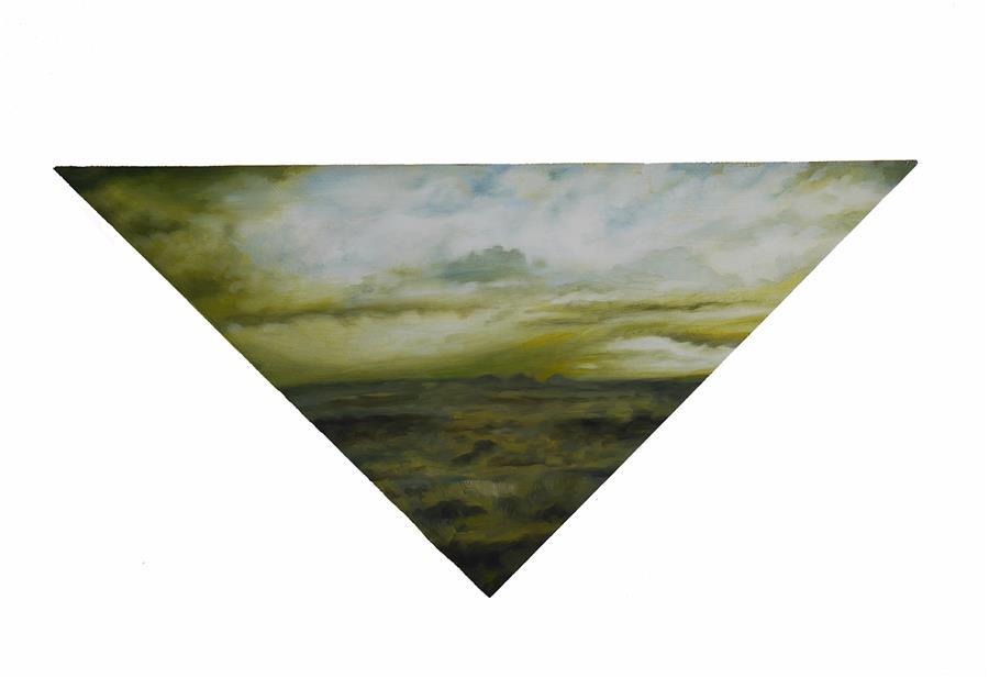 Original art for sale at UGallery.com | Terrain by Kristen Brown | $425 | oil painting | 7' h x 14' w | ..\art\oil-painting-Terrain