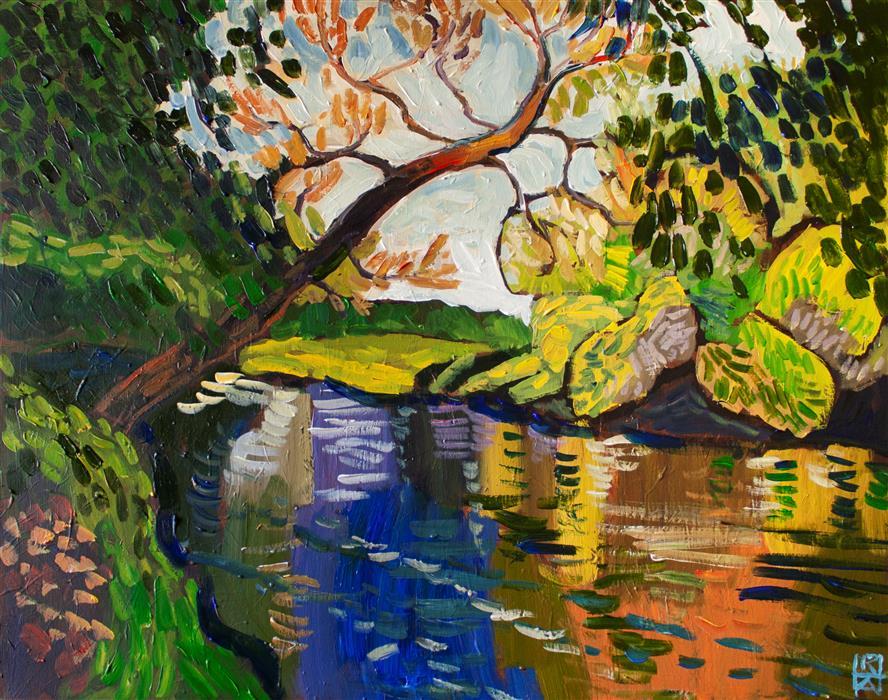 Original art for sale at UGallery.com | Brandywine by Robert Hofherr | $1,375 | acrylic painting | 24' h x 30' w | ..\art\acrylic-painting-Brandywine