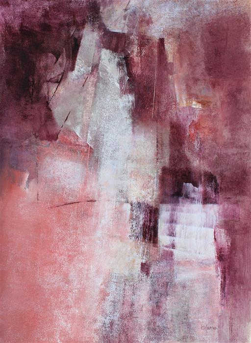 Original art for sale at UGallery.com | Ways & Means by Karen Hansen | $1,625 | acrylic painting | 30' h x 22' w | ..\art\acrylic-painting-Ways-Means