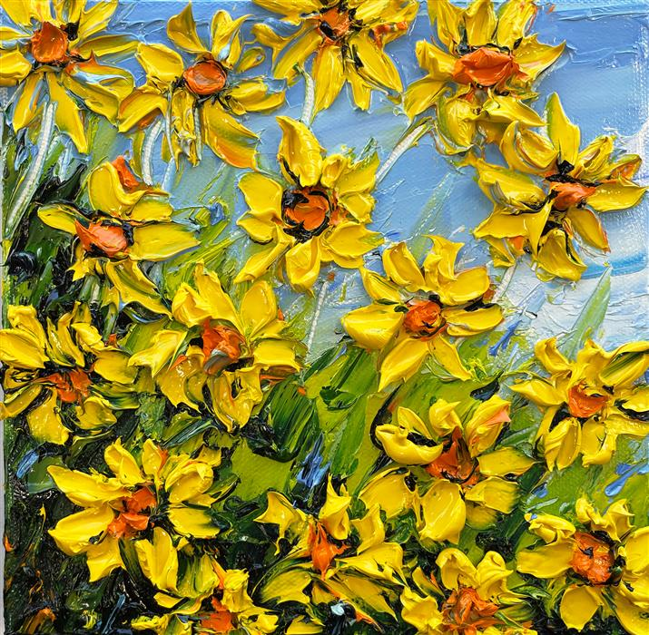 Original art for sale at UGallery.com | Springtime by Lisa Elley | $425 | oil painting | 8' h x 8' w | ..\art\oil-painting-Springtime-70757