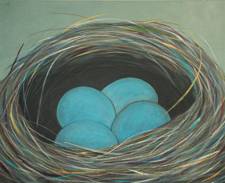 Original art for sale at UGallery.com | Meta-Material Nest by Jennifer Ross | $1,100 | acrylic painting | 24' h x 30' w | ..\art\acrylic-painting-Meta-Material-Nest