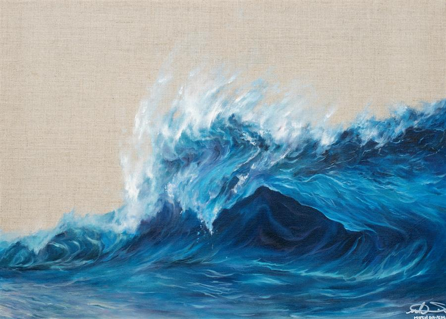 Original art for sale at UGallery.com | Impending by Mitch Davis-Mann | $1,700 | oil painting | 18' h x 24' w | ..\art\oil-painting-Impending