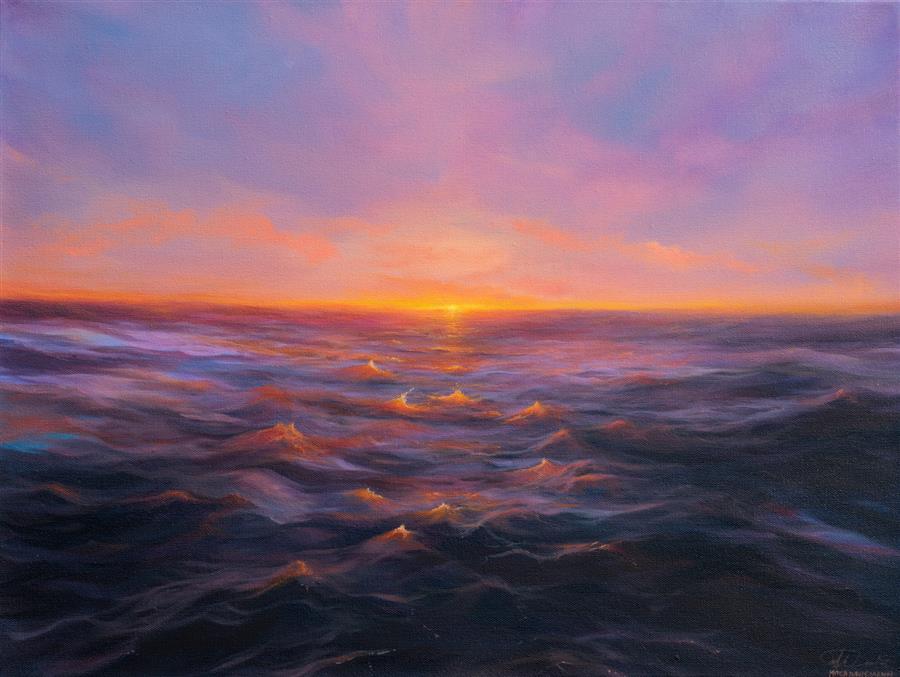 Original art for sale at UGallery.com | Twelve Apostles by Mitch Davis-Mann | $1,700 | oil painting | 18' h x 24' w | ..\art\oil-painting-Twelve-Apostles