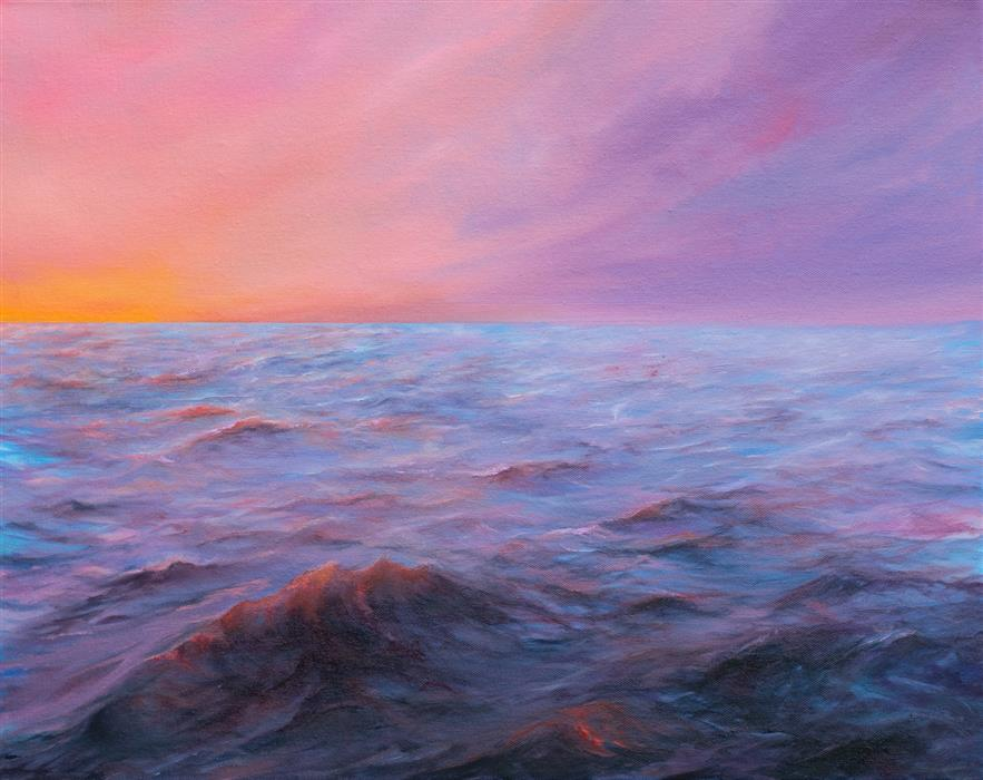 Original art for sale at UGallery.com | Abyss by Mitch Davis-Mann | $1,425 | oil painting | 16' h x 20' w | ..\art\oil-painting-Abyss