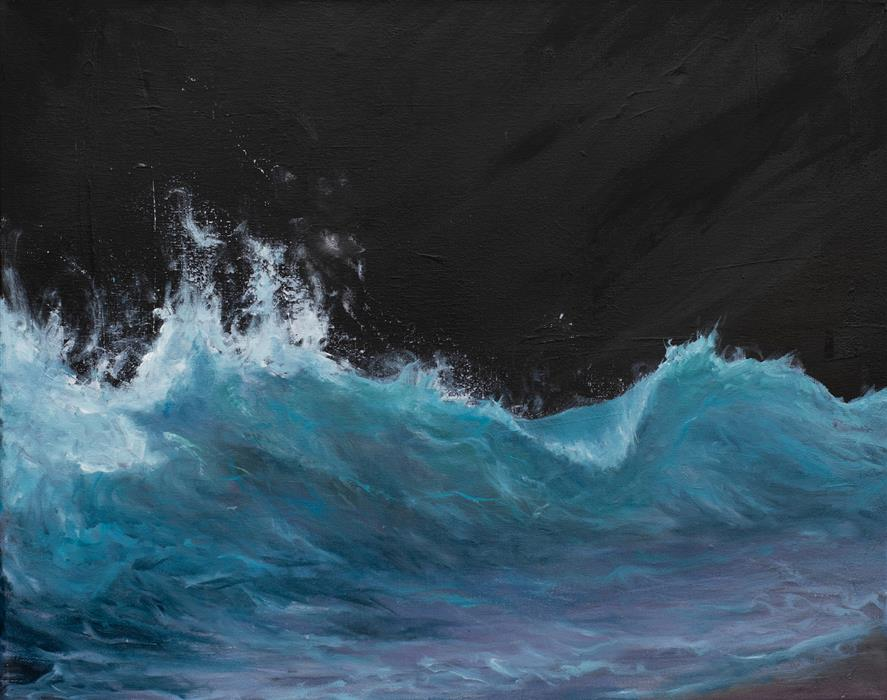 Original art for sale at UGallery.com | Reaching by Mitch Davis-Mann | $1,025 | oil painting | 16' h x 20' w | ..\art\oil-painting-Reaching